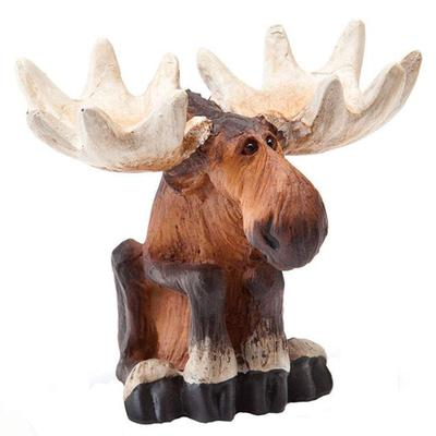 Sitting Moose Mini Figurine