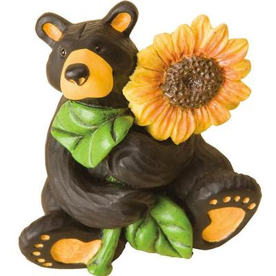 Sunflower Bear Mini Figurine