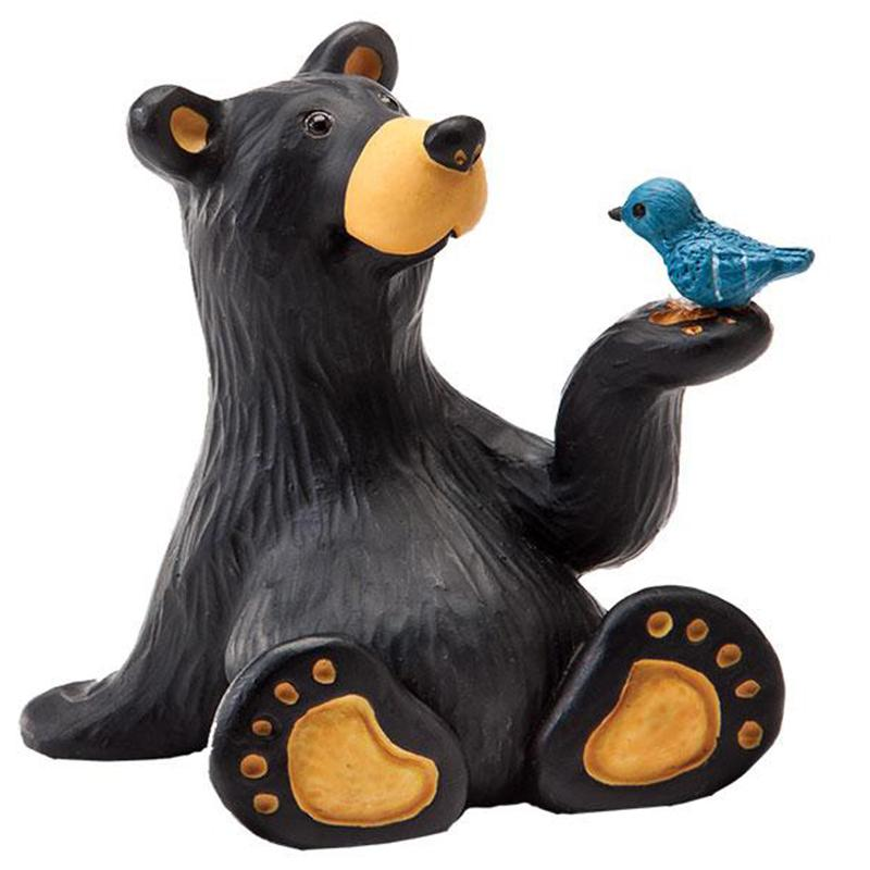 Minnie Bear With Bird Mini Figurine