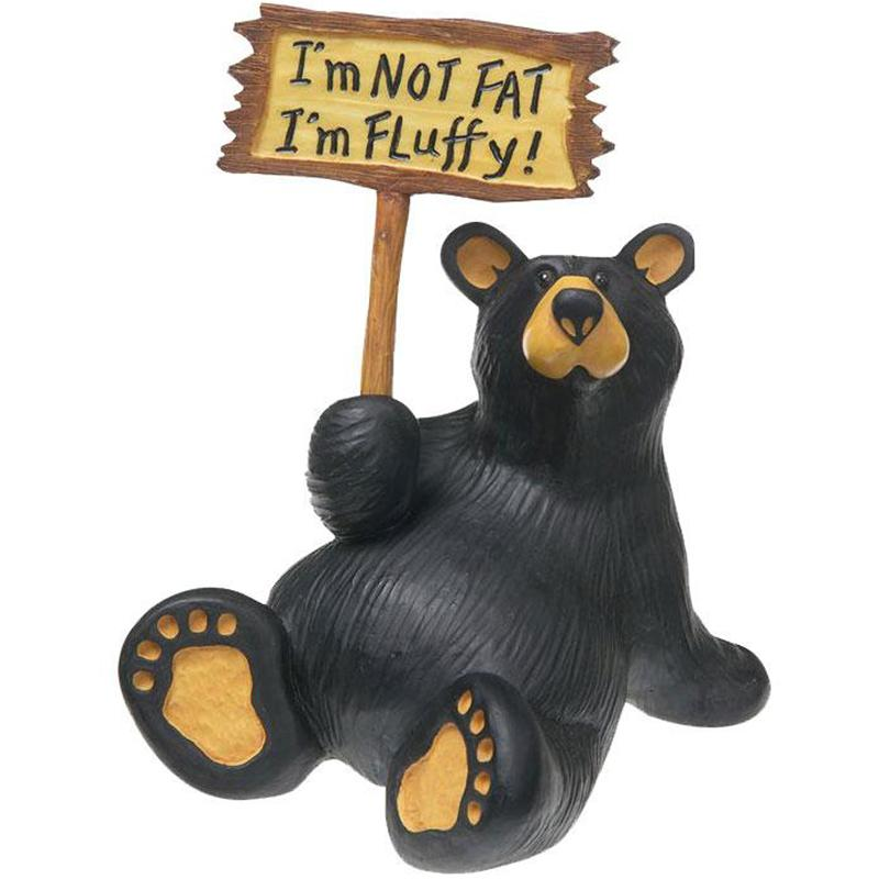 I ' M Fluffy Bear Figurine