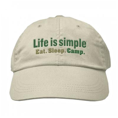 Unisex Life Is Simple Camp Hat