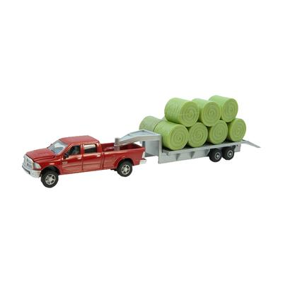 Ram Pickup with Gooseneck Trailer + Bales Toy