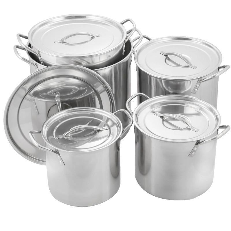 5pc Stainless Steel Stockpot Set
