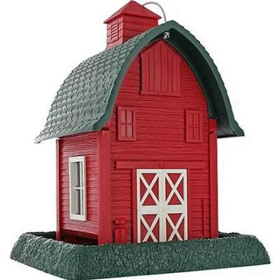 Barn Bird Feeder - Green + Red