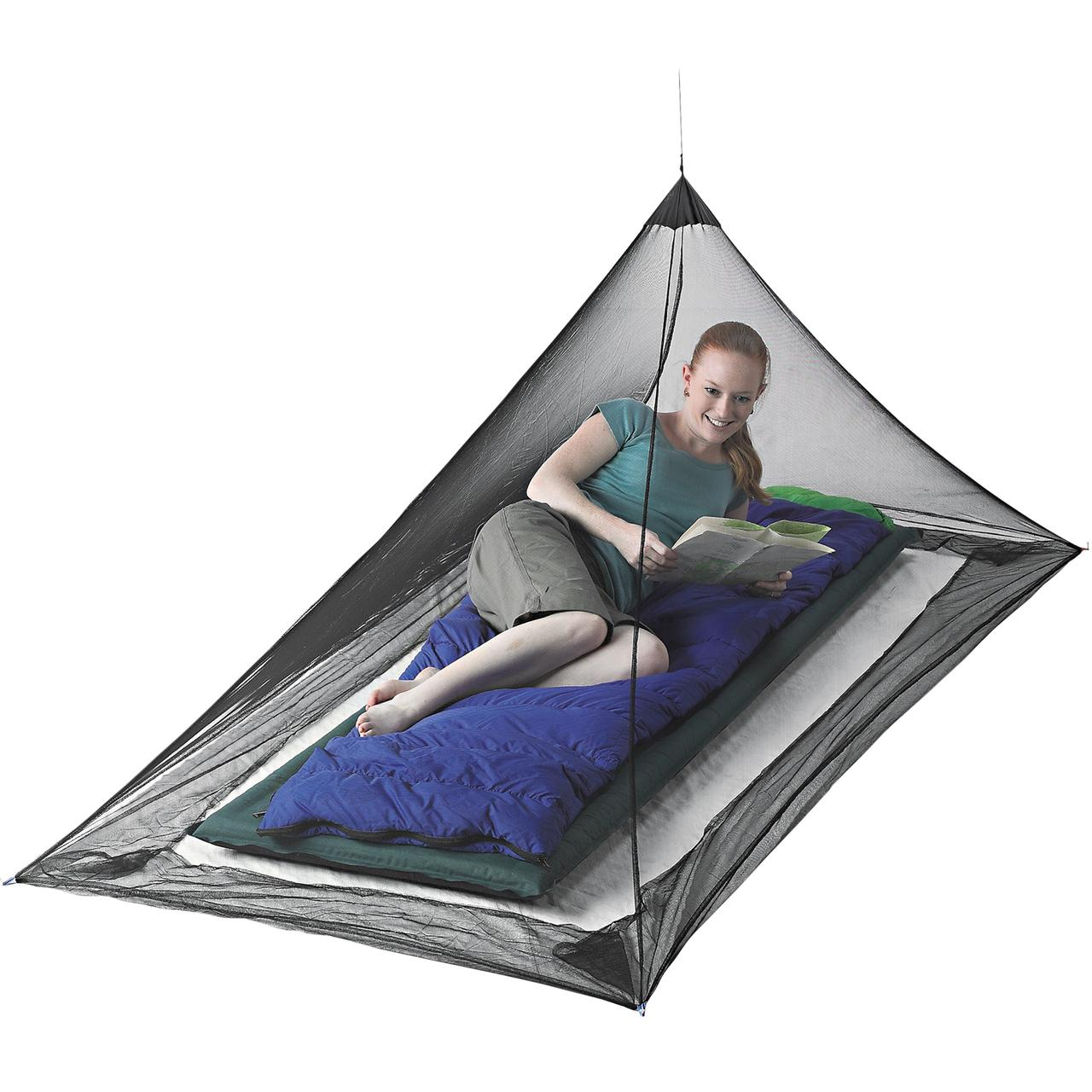 Mosquito Pyramid Net Single Shelter With Insect Shield