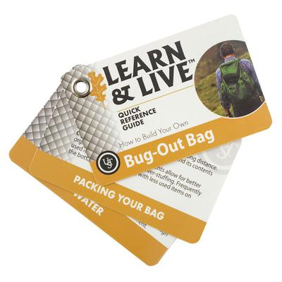 Learn and Live Bug Out Bag Cards