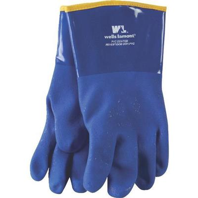 Men's Gloves Chemical Resistant Lined Blue