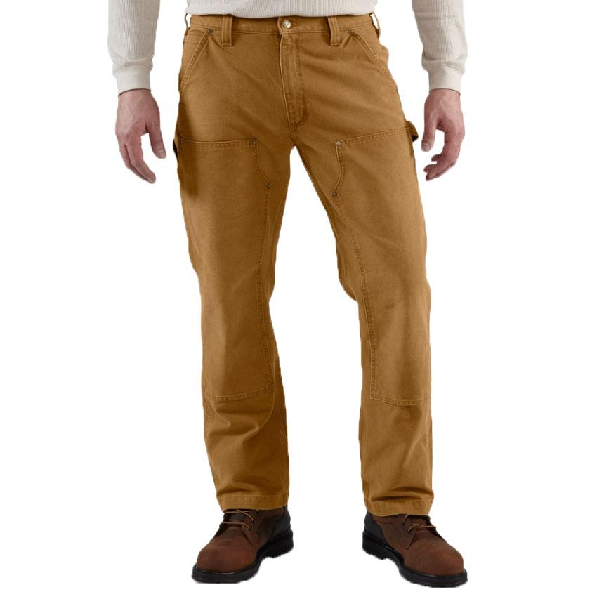 Men's Weathered Duck Double- Front Dungaree