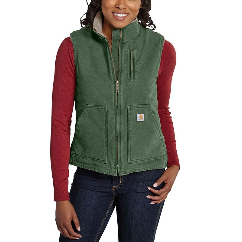 Women's Sandstone Mock Neck Vest
