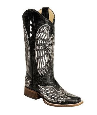 Women's Wing and Cross Square Toe Boot