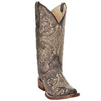 Women's Circle G Brown Crackle Boots