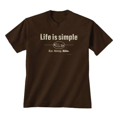 Unisex Life Is Simple Hike Tee Shirt