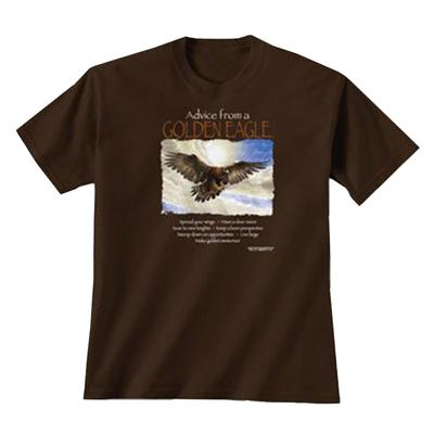 Unisex Advice Golden Eagle Tee Shirt