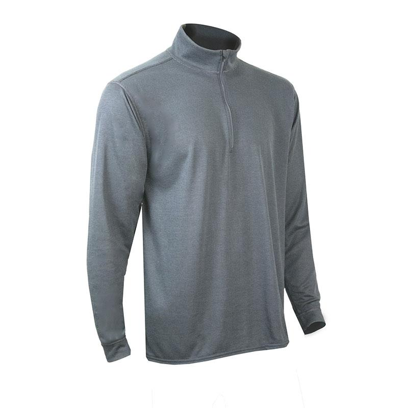 Mens Double Base Layer Zip Mock