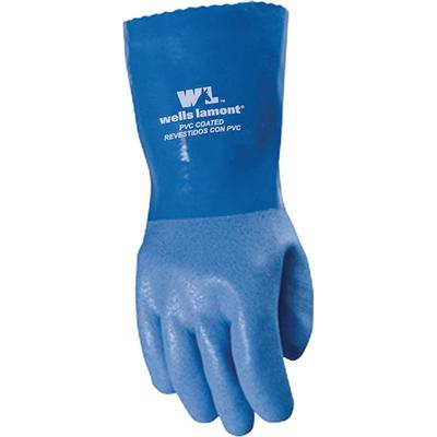 Unisex Heavy Duty PVC Blue Work Gloves