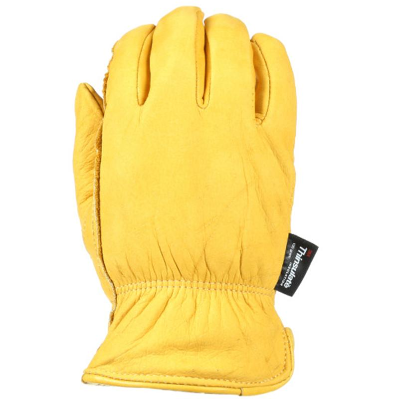 Men's Insulated Grain Cowhide Gloves