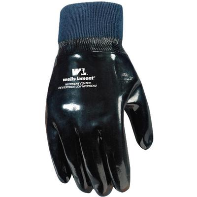 Unisex Black Neoprene Gloves with Knit Wrist