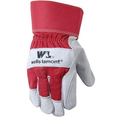 Unisex Suede Cowhide Double Palm Gloves