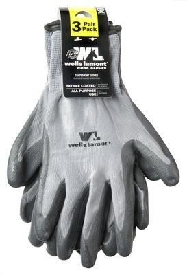 Unisex Nitrile Coated Gloves - 3 Pack