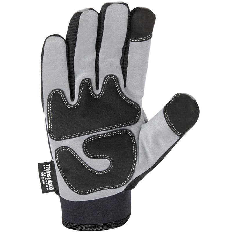 Men's Insulated Synthetic Leather Gloves