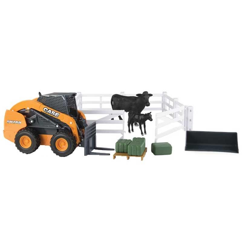 Big Farm Case Skidsteer Hobby Farm Set
