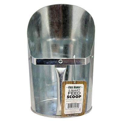 2-Quart Galvanized Feed Scoop