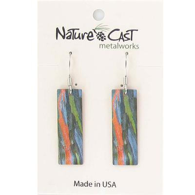 Women's Dangle Colorful Bark Earring