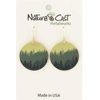 Women's Dangle Round Layered Trees Earring