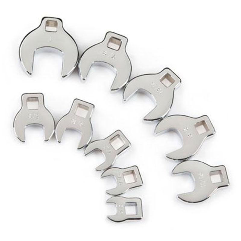 10 Pc 3/8 In Drive Crowfoot Set - Sae