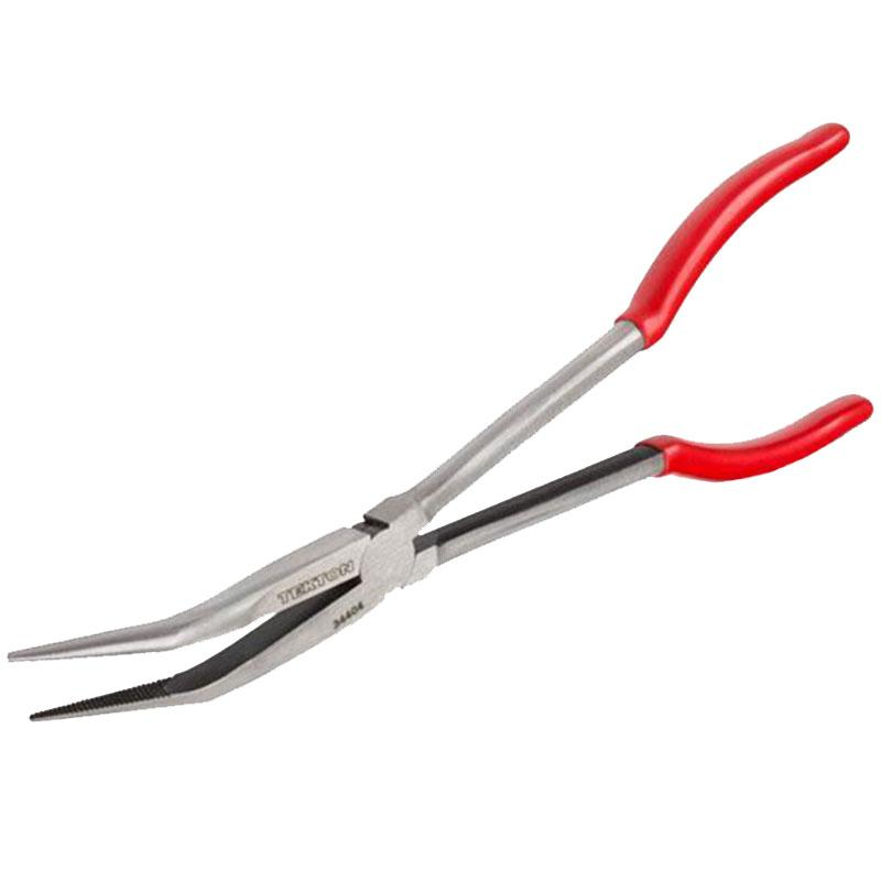 11 Inch Long Reach 45- Degree Bent Nose Pliers