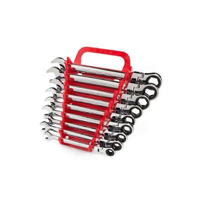 9PC FLEXHEAD RATCH COMB WRENCH SET