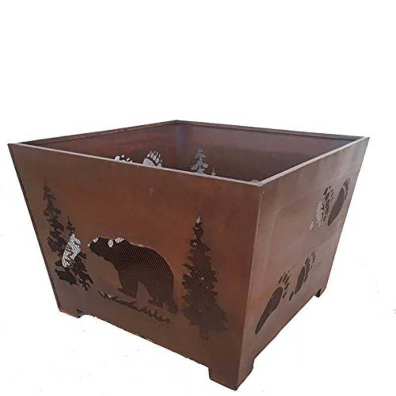 Bear And Tracks 24 In.X 16 In.Fire Pit
