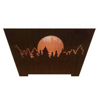 Moon and Pines 24 in. x 16 in. Fire Pit