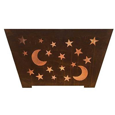 Star and Moon 24 in. x 16 in. Fire Pit