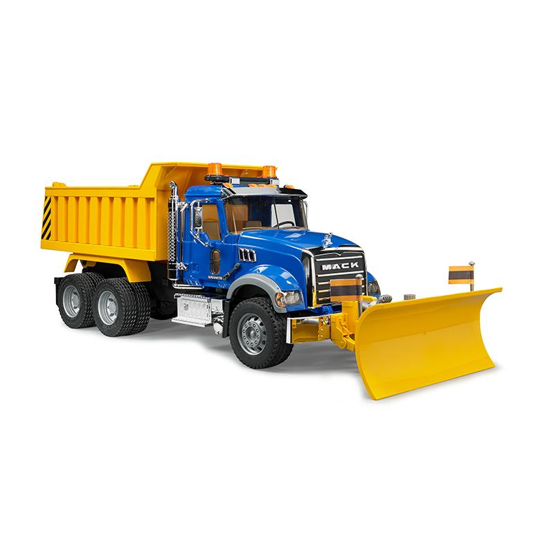 Mack Granite Dump Truck W Snow Plow