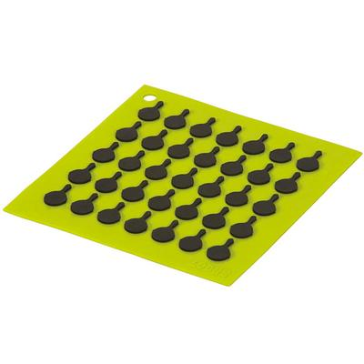 Silicone Square Trivet with Black Logo Skillets