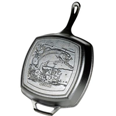 10.5 Inch Square Grill Pan with Fish Logo