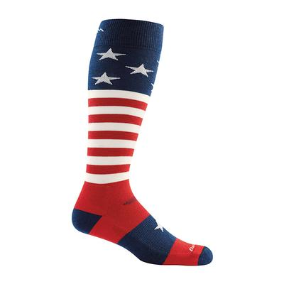 Mens Captain Stripe Over- The- Calf Light Sock