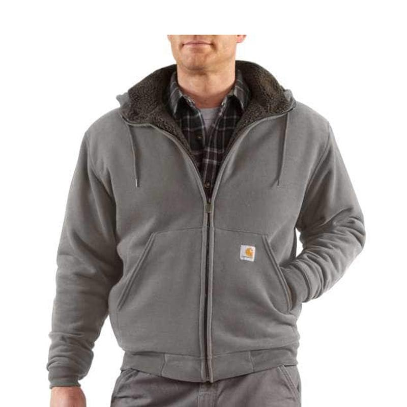 Mens Collinston Brushed Fleece Sherpa- Lined Sweatshirt