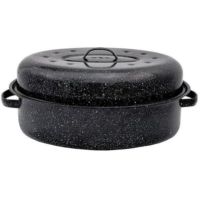 Granite Ware 19 inch Black Granite Oval Roasting Pan