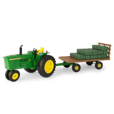 John Deere Narrow Tractor with Hay Wagon
