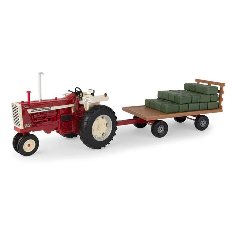 Farmall 1206 Narrow Front Tractor With Hay Wagon