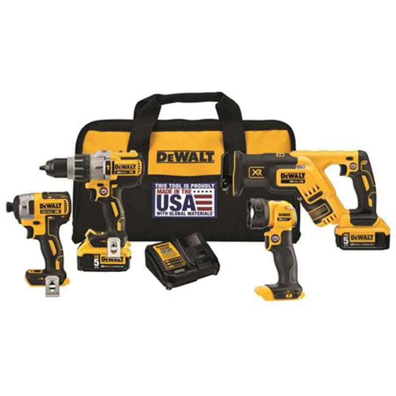 20 V Max Xr Lithium Ion 4- Tool Combo Kit