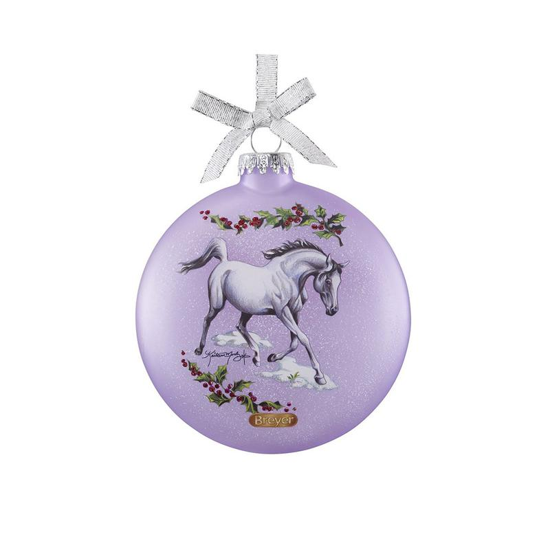 Artist Signature Glass Ornament- Arabian Horses