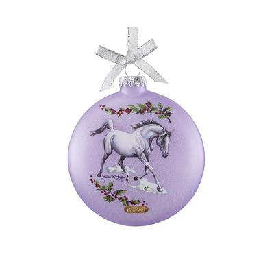 Artist Signature Glass Ornament-Arabian Horses