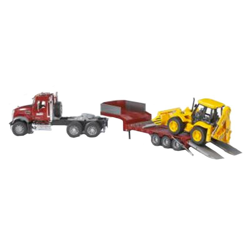 Mack Granite Low Loader And Jcb 4cx Tractor