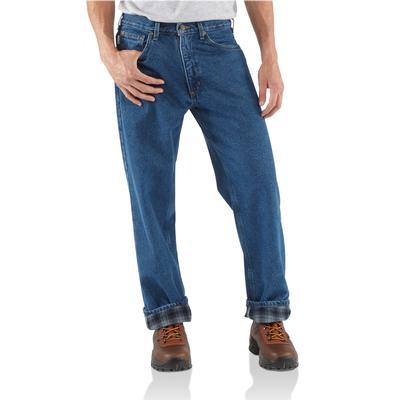 Men's Relaxed-Fit Straight-Leg Flannel Lined Jean