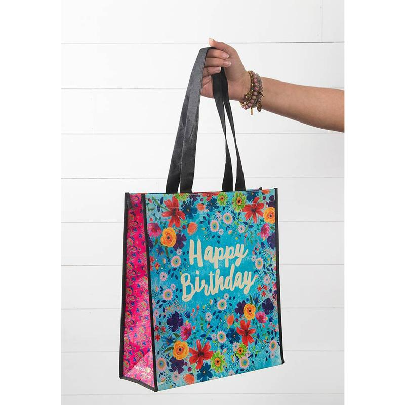 Happy Birthday Recycled Tote