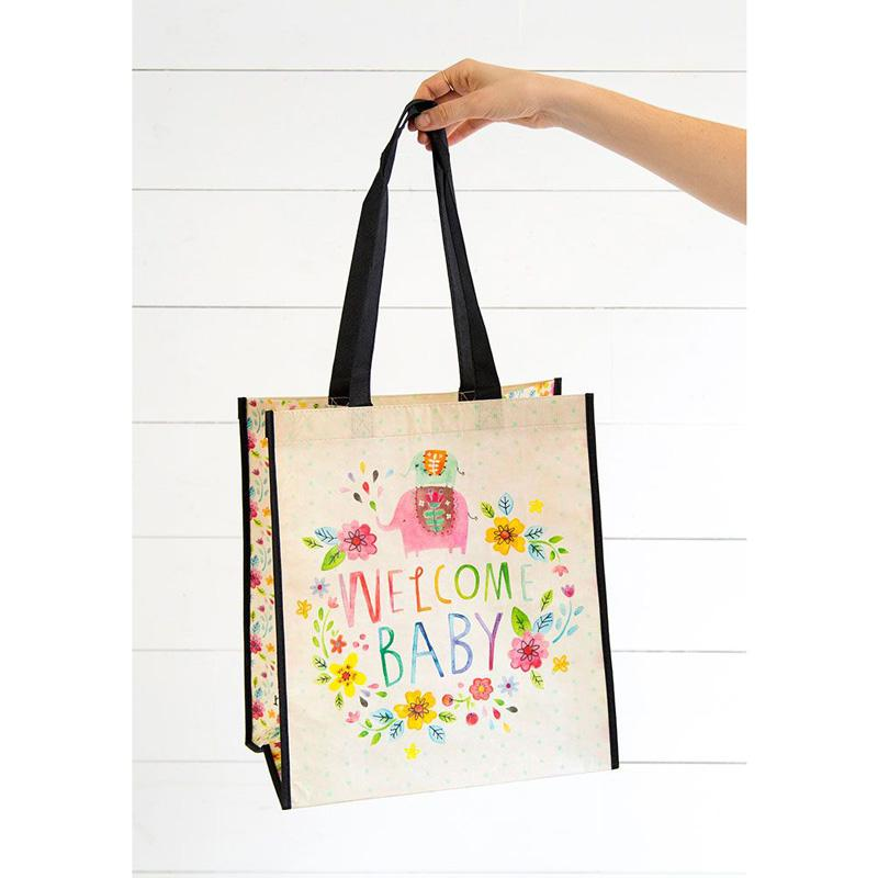Welcome Baby Large Recycled Bag