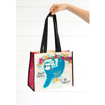 Don't Hurry Be Happy Large Recycled Bag